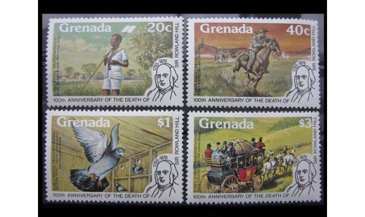 "Гренада 1979 г. ""100-летие Роуленда Хилла"""