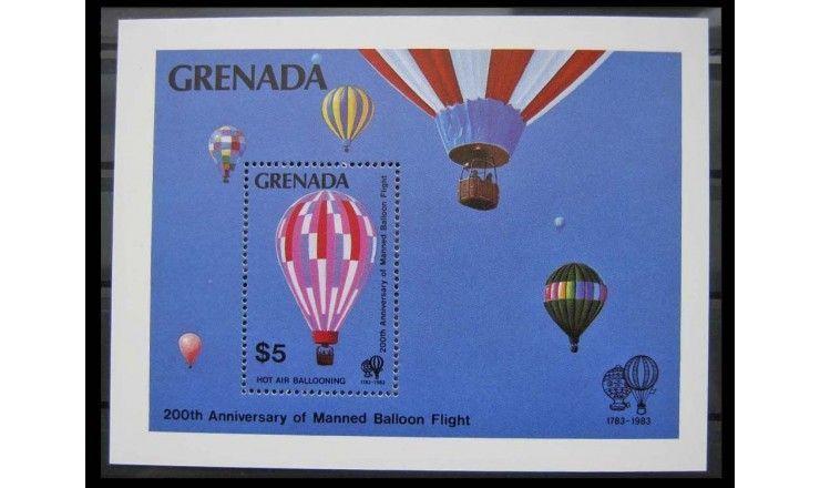 """Гренада 1983 г. """"200 лет авиации"""""""
