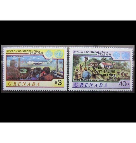 "Гренада 1984 г. ""Открытие аэропорта Пойнт-Салин"" (надпечатка)"