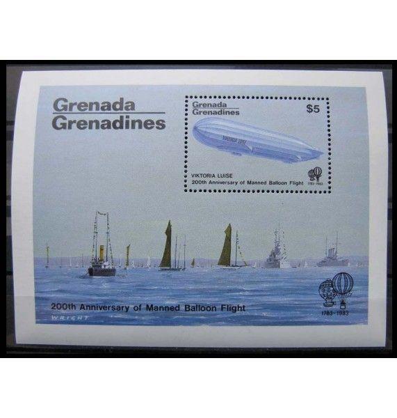 """Гренада и Гренадины 1983 г. """"200-летие авиации"""""""
