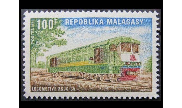 "Мадагаскар 1972 г. ""Тепловозы"""