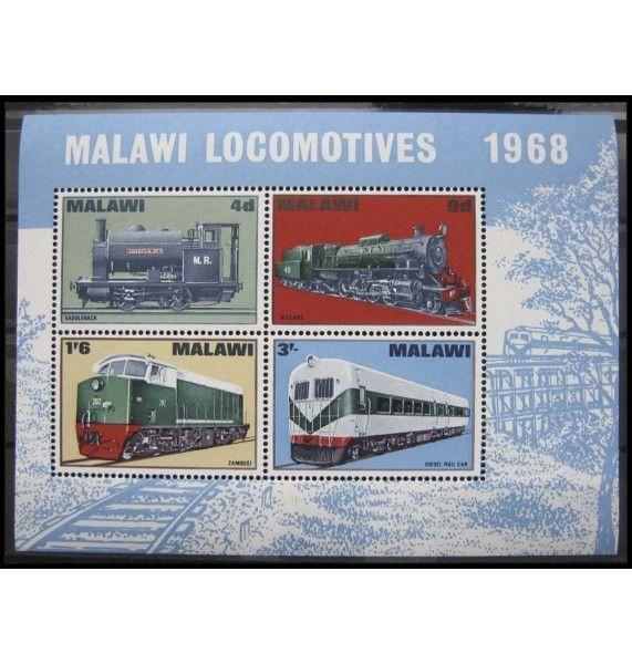 """Малави 1968 г. """"Местный транспорт: Локомотивы"""""""
