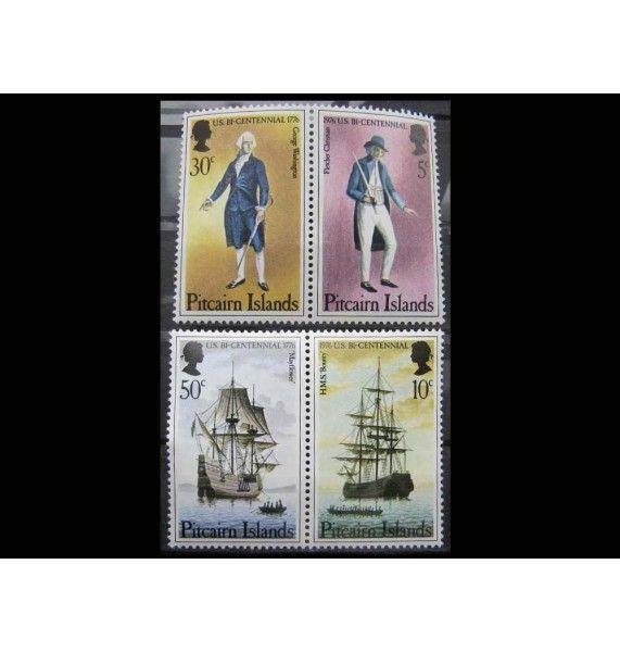 """Острова Питкэрн 1976 г. """"200-летие независимости США"""""""