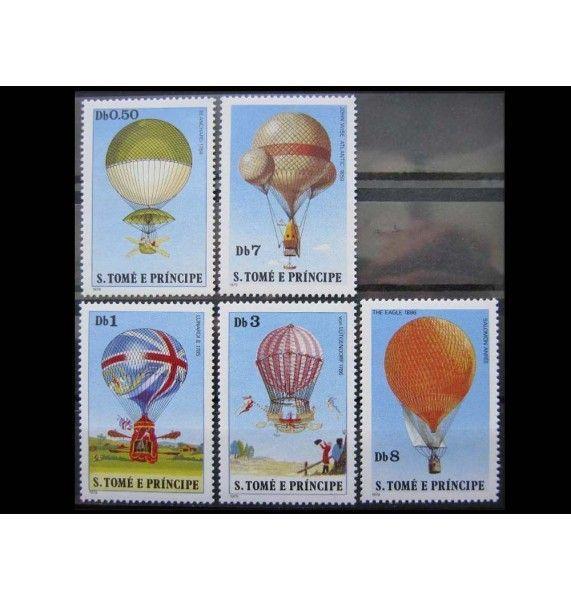 """Сан-Томе и Принсипи 1979 г. """"История воздушных шаров"""""""