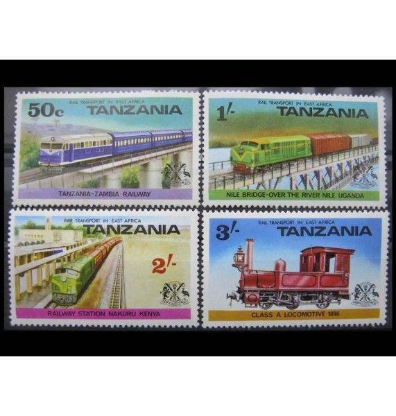 """Танзания 1976 г. """"Железная дорога в Восточной Африке"""""""