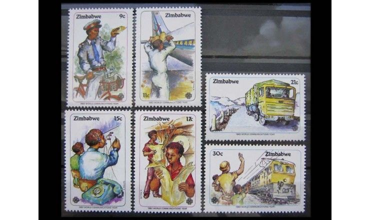 """Зимбабве 1983 г. """"Международный год телекоммуникаций"""""""